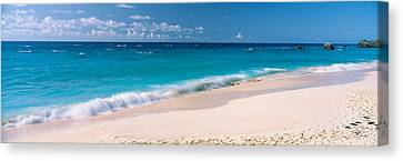 Waves On The Beach, Warwick Long Bay Canvas Print by Panoramic Images