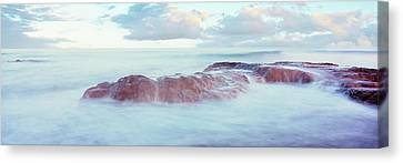 Roca Canvas Print - Waves On The Coast, Las Rocas Beach by Panoramic Images