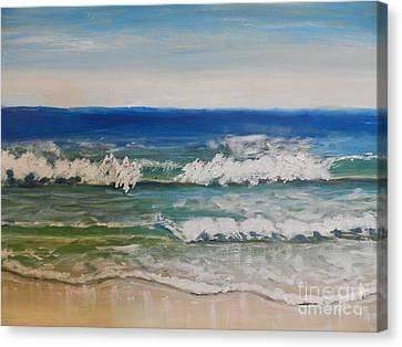 Waves Canvas Print by Pamela  Meredith