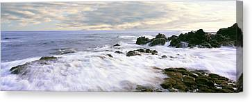 Roca Canvas Print - Waves Race For Shore At Las Rocas by Panoramic Images
