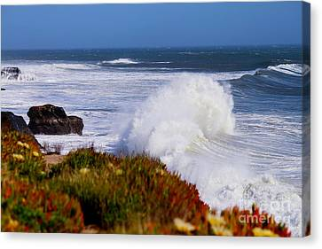 Canvas Print featuring the photograph Waves by Theresa Ramos-DuVon