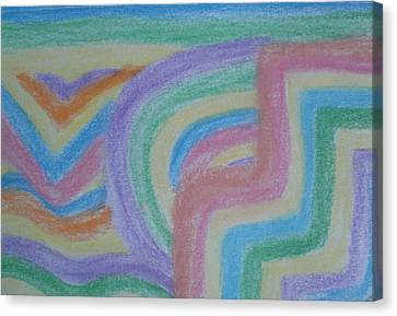 Canvas Print featuring the drawing Waving Colors by Thomasina Durkay