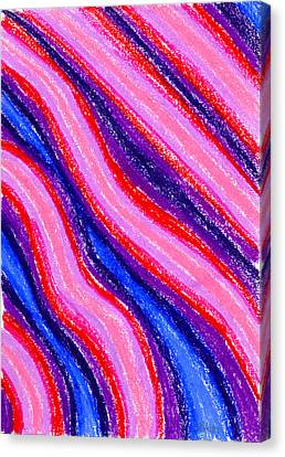 Wavy Oil Pastel Canvas Print by Hakon Soreide