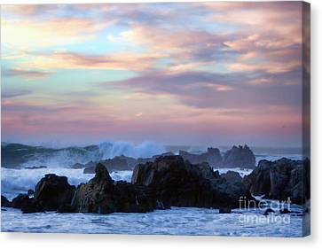 Wavy Sunset Canvas Print