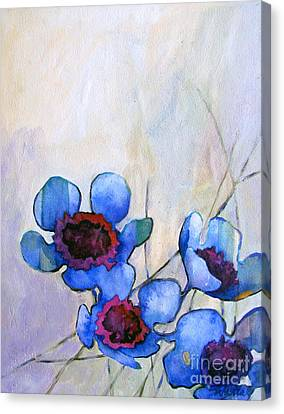Wax Flowers Blue Canvas Print by Wendy Westlake