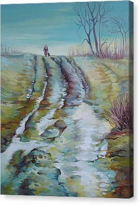 Way Home Canvas Print by Elena Oleniuc