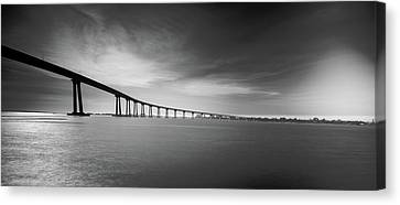 Way Over The Bay Canvas Print by Ryan Weddle