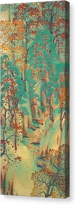 Way To Atago Canvas Print by Yokoyama Taikan