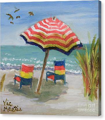 Canvas Print featuring the painting Way To Go by Vic  Mastis