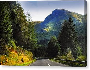 Way To Rest And Be Thankful. Scotland Canvas Print by Jenny Rainbow