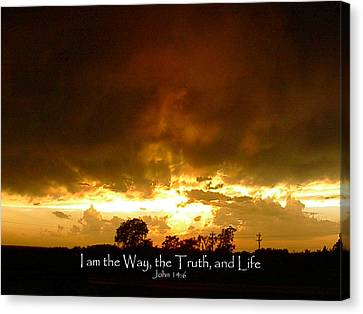 Way Truth Life Canvas Print