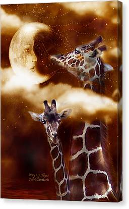 Way Up There Canvas Print by Carol Cavalaris