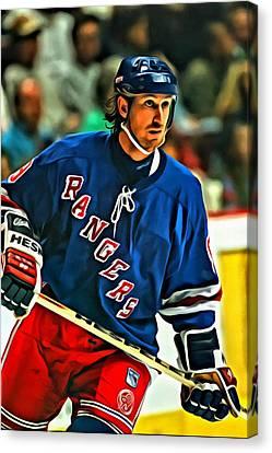 Wayne Gretzky In Action Canvas Print by Florian Rodarte