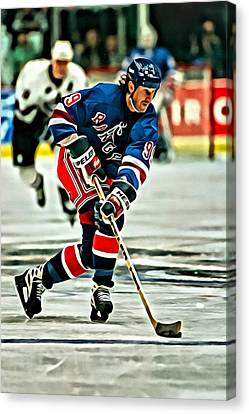 Wayne Gretzky Skating Canvas Print