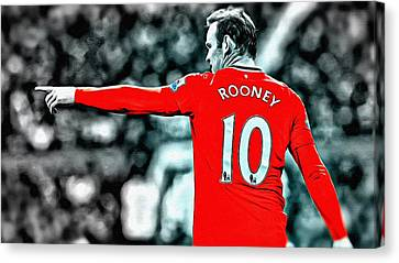 Wayne Rooney Canvas Print - Wayne Rooney Poster Art by Florian Rodarte