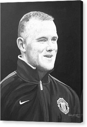 Wayne Rooney Canvas Print - Wayne Rooney by Stephen Rea