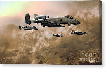 Canvas Print featuring the painting Waypoint Alpha - Outline by Dave Luebbert
