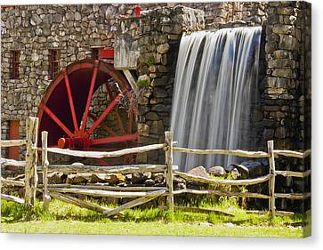 Wayside Grist Mill 4 Canvas Print by Dennis Coates