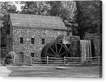 Wayside Grist Mill - Sudbury Massachusetts Canvas Print by Suzanne Gaff