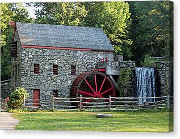 Wayside Grist Mill Canvas Print by Suzanne Gaff