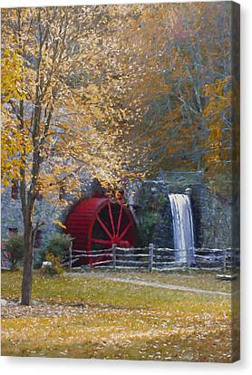 Wayside Inn Grist Mill Canvas Print by Jean-Pierre Ducondi