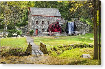 Wayside Inn Grist Mill Canvas Print by Kyle Wasielewski