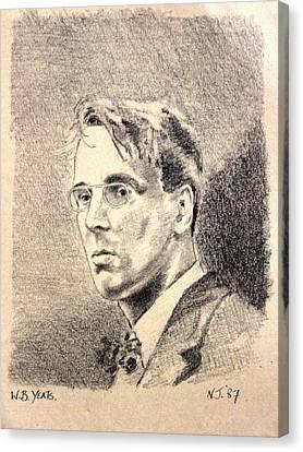 W.b. Yeats Canvas Print by John  Nolan