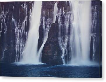 Abstract Water Fall Canvas Print - We All Fall Down Sometimes by Laurie Search