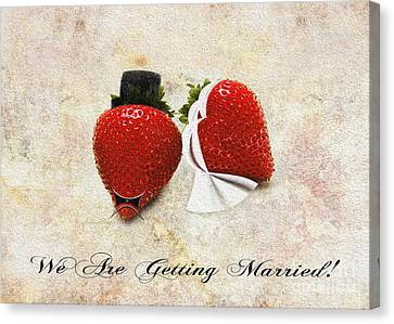 We Are Getting Married Canvas Print by Andee Design