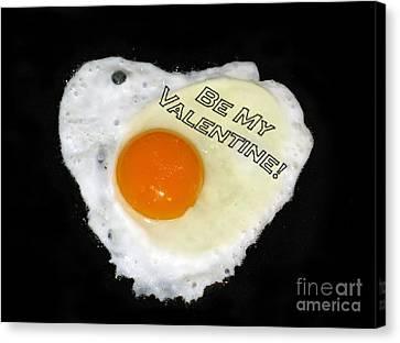 We Are Like Egg And Pepper. Be My Valentine Canvas Print by Ausra Huntington nee Paulauskaite