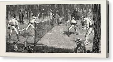 We Find A Jolly Place In The Cemetery Fur Lawn-tennis Canvas Print