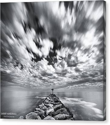 We Have Had Lots Of High Clouds And Canvas Print
