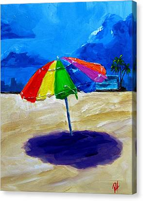 We Left The Umbrella Under The Storm Canvas Print by Patricia Awapara