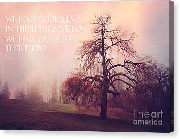 Canvas Print featuring the photograph We Loose Ourselves by Sylvia Cook