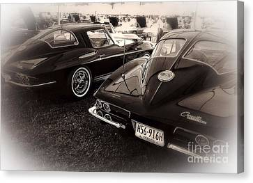 We Love Corvettes  Canvas Print by Delona Seserman
