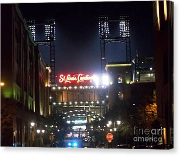 Canvas Print featuring the photograph We Love Our Redbirds by Kelly Awad
