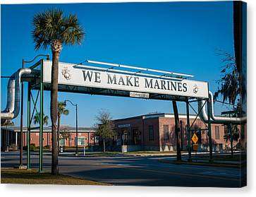 We Make Marines Canvas Print by Roger Clifford