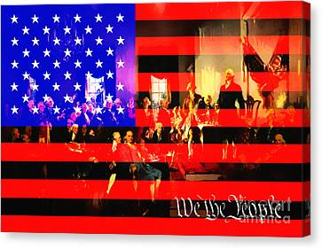 We The People 20131221 Canvas Print by Wingsdomain Art and Photography