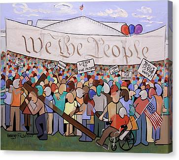 We The People Canvas Print by Anthony Falbo