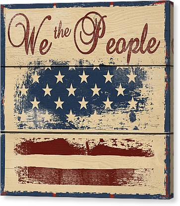 We The People Canvas Print