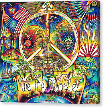 We The People Canvas Print by Jonathan 'DiNo' DiNapoli