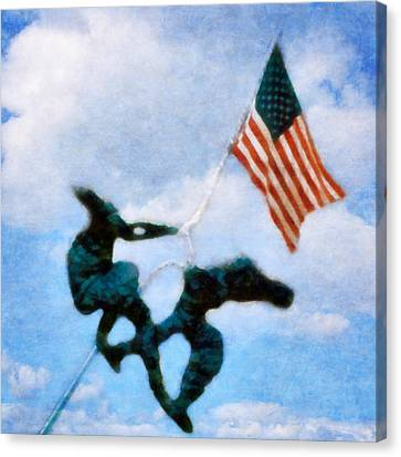 We The People Canvas Print by Michelle Calkins