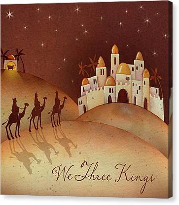 Nativity Canvas Print - We Three Kings by P.s. Art Studios