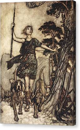 Hunting Canvas Print - We Will, Fair Queen by Arthur Rackham
