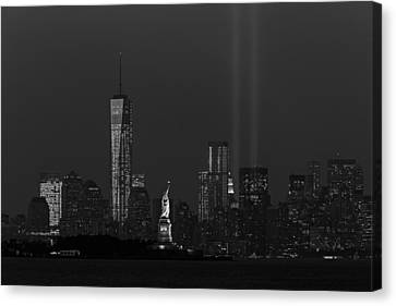 We Will Never Forget 2013 Bw Canvas Print by Susan Candelario