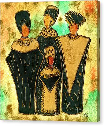 We Women 4 - Suede Version Canvas Print by Angela L Walker