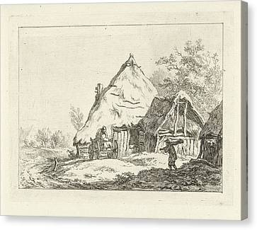 City Scape Canvas Print - Weagon For A Farm, Carel Lodewijk Hansen by Carel Lodewijk Hansen