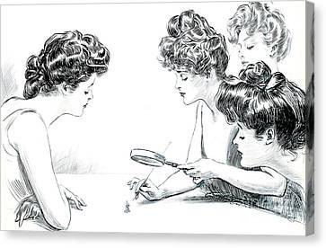 Weaker Sex 1903 Canvas Print by Padre Art