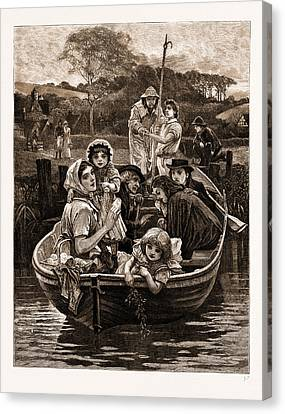 Weal And Woe, From The Painting By Charles Gregory Canvas Print by Litz Collection