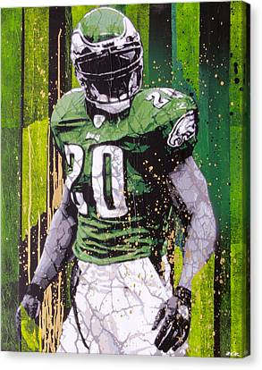 Football Canvas Print - Weapon X by Bobby Zeik